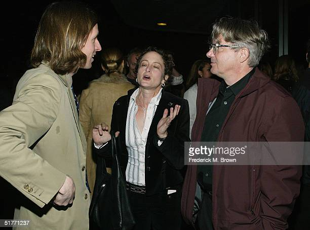 "Director Wes Anderson, Disney executive Nina Jacobson and composer Mark Motherbaugh attend the film premiere of ""The Life Aquatic With Steve Zissou""..."