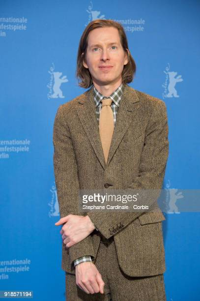 Director Wes Anderson poses at the 'Isle of Dogs' photo call during the 68th Berlinale International Film Festival Berlin at Grand Hyatt Hotel on...