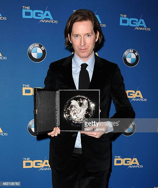 Director Wes Anderson poses in the press room at the 67th annual Directors Guild of America Awards at the Hyatt Regency Century Plaza on February 7...