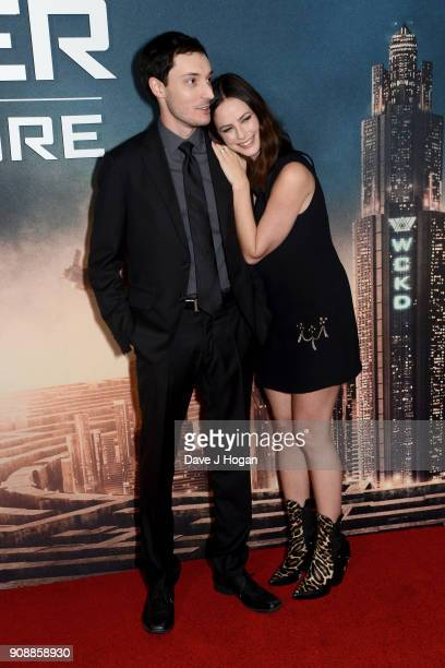 Director Wes Ball and Kaya Scodelario attend the UK fan screening of 'Maze Runner The Death Cure' at Vue West End on January 22 2018 in London England