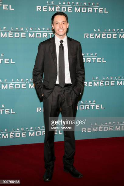 Director Wes Ball attends the 'Maze Runner The Death Cure' Premiere at Le Grand Rex on January 24 2018 in Paris France