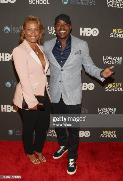 Director Will Packer and wife Heather Hayslett attend the premiere of Night School at the 2018 UrbanWorld Film Festival at the SVA Theater on...