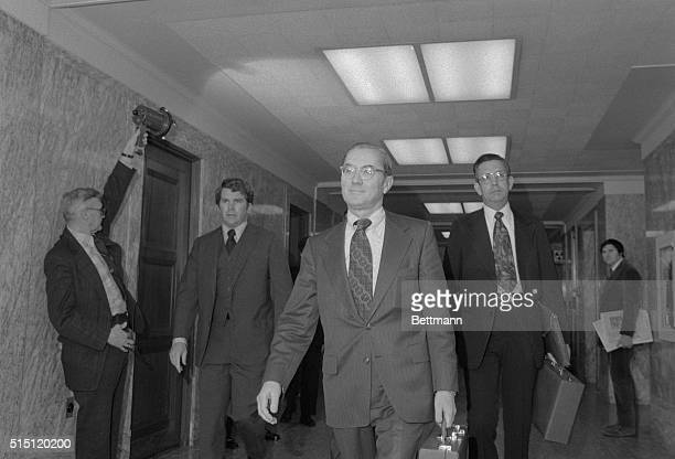 CIA Director William E Colby arrives here to testify before the Senate Armed Services Committee He outlined again a series of controversial domestic...