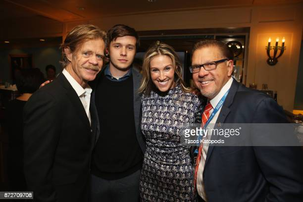Director William H Macy actor Nick Robinson producer Rachel Winter and director of Virginia Film Festival Jody Kielbasa attend the 30th Annual...