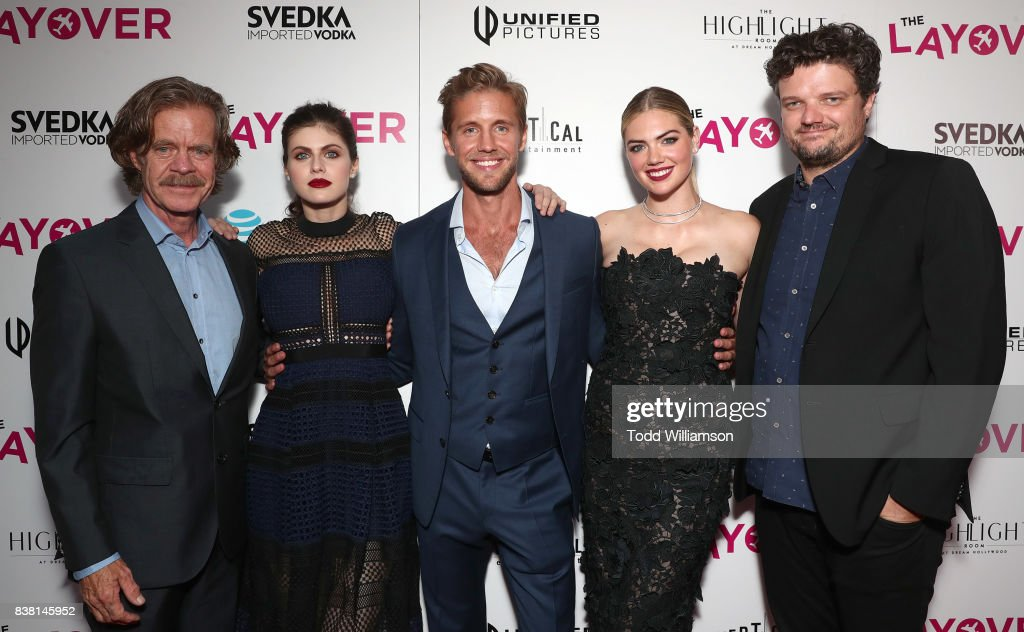 Director William H. Macy, Alexandra Daddario, Matt Barr, Kate Upton and Matt Jones attend the premiere of DIRECTV And Vertical Entertainment's 'The Layover' at ArcLight Hollywood on August 23, 2017 in Hollywood, California.