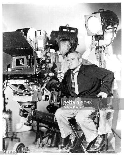 Director William Wyler behind the cameras circa 1948