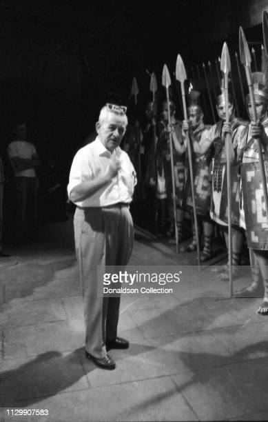 Director William Wyler on the set of the movie Ben Hur in 1959