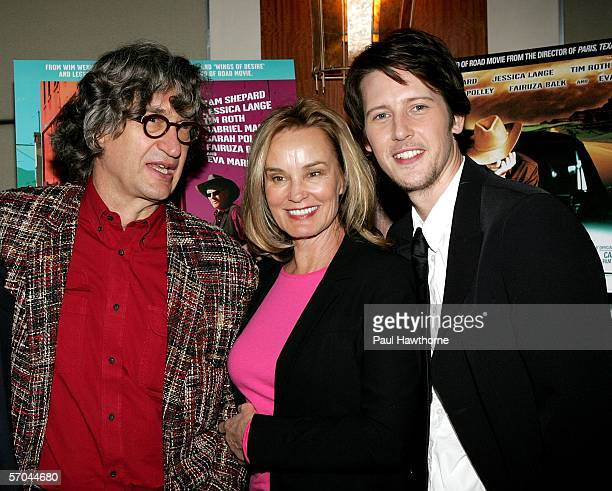 Director Wim Wenders actress Jessica Lange and actor Gabriel Mann attend the New York premiere of Don't Come Knocking reception at Norma's in Le...