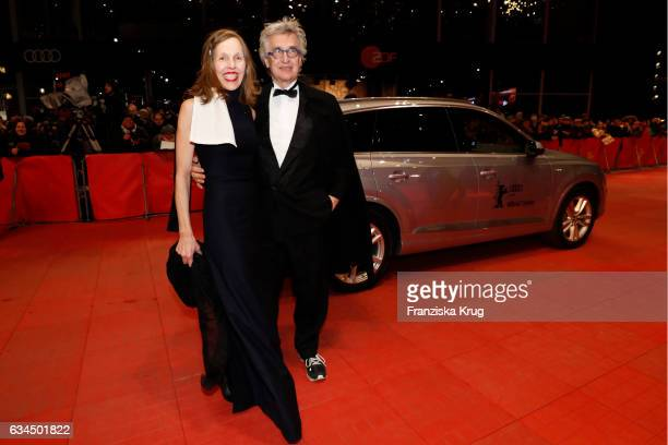 Director Wim Wenders and Donata Wnders attend the 'Django' premiere during the 67th Berlinale International Film Festival Berlin at Berlinale Palace...