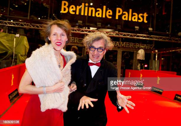 Director Wim Wenders and his wife Donata attend the premiere of 'The Grandmaster' during the 63rd Berlinale International Film Festival at the...