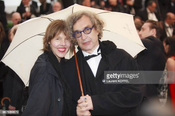Director Wim Wenders and his wife Donata Wenders attend the 'Jimmy P ' Premiere during the 66th Annual Cannes Film Festival at the Palais des...