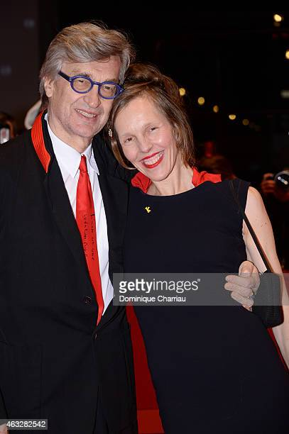 Director Wim Wenders and wife Donata Wenders attend the 'The American Friend' screening during the 65th Berlinale International Film Festival at...