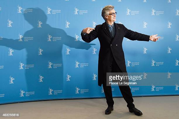 Director Wim Wenders attends the 'Honorary Golden Bear' photocall during the 65th Berlinale International Film Festival at Grand Hyatt Hotel on...