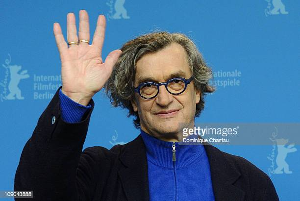 Director Wim Wenders attends the 'Pina' Photocall during day four of the 61st Berlin International Film Festival at the Grand Hyatt on February 13,...