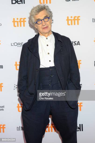 Director Wim Wenders attends the Submergence premiere at The Elgin on September 10 2017 in Toronto Canada