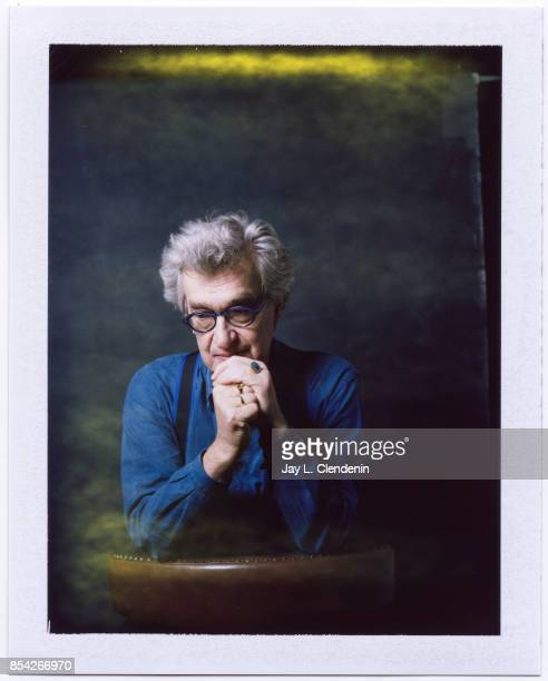 Director Wim Wenders from the film Submergence is photographed on polaroid film at the LA Times HQ at the 42nd Toronto International Film Festival in...