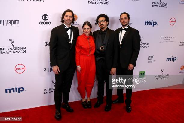 Director Wladimir Winter and producer Leonardo Neumann of ShortForm Series Hack the City attend 47th International Emmy Awards in New York United...