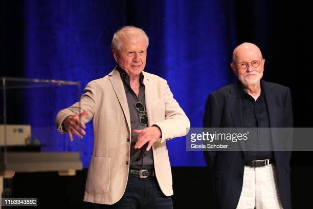Director Wolfgang Petersen and Guenter Rohrbach during the Bavaria Film Reception One Hundred Years in Motion on the occasion of the 100th...