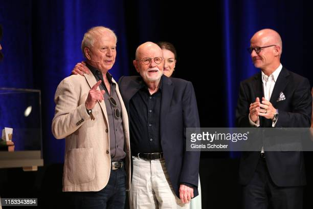 Director Wolfgang Petersen Guenter Rohrbach and Christian Franckenstein during the Bavaria Film Reception One Hundred Years in Motion on the occasion...