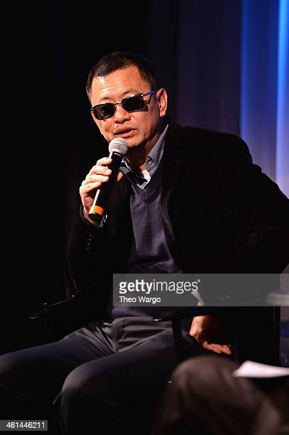 Director Wong Kar Wai attends a QA And Reception In Honor Of Director Wong Kar Wai And His Film 'Martin Scorsese Presents THE GRANDMASTER' at...
