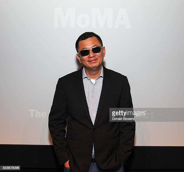 Director Wong Kar Wai attends MoMA Modern Mondays Conversation With Wong Kar Wai at MOMA on May 23 2016 in New York City