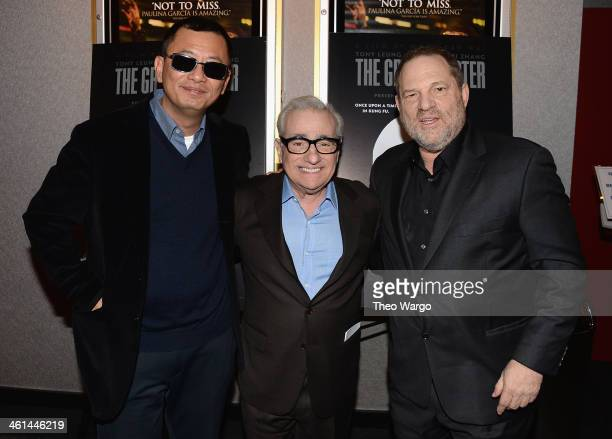 Director Wong Kar Wai director Martin Scorsese and Harvey Weinstein attend a QA And Reception In Honor Of Director Wong Kar Wai And His Film 'Martin...