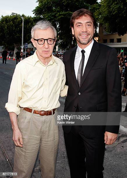 Director Woody Allen and actor Javier Bardem arrive on the red carpet at the Los Angeles Premiere of 'Vicky Cristina Barcelona' at the Mann Village...