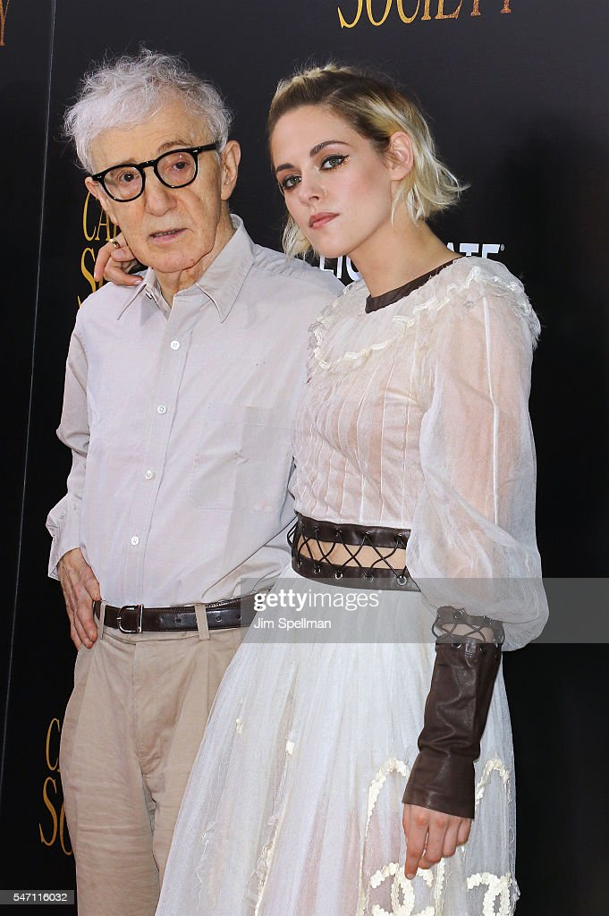 Director Woody Allen and actress Kristen Stewart attend the New York premiere of 'Cafe Society' hosted by Amazon & Lionsgate with The Cinema Society at Paris Theatre on July 13, 2016 in New York City.
