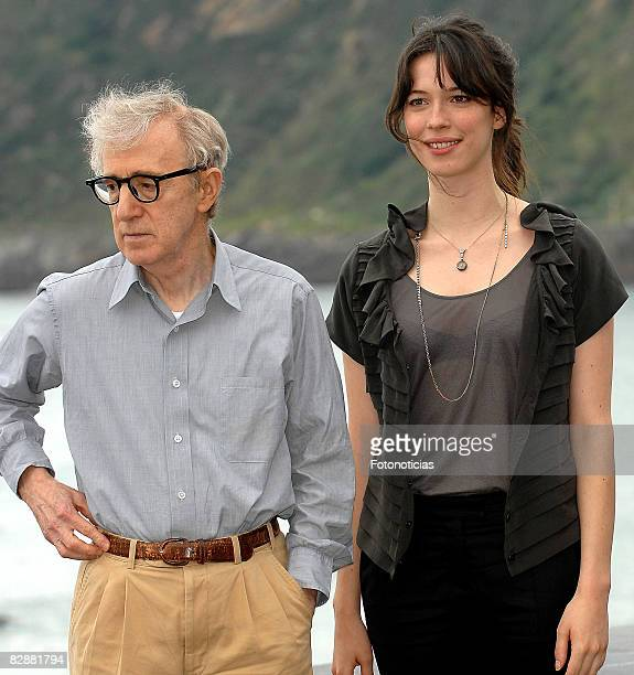 Director Woody Allen and actress Rebecca Hall attend the photocall for 'Vicky Cristina Barcelona' at The Kursaal Palace during the 56th San Sebastian...
