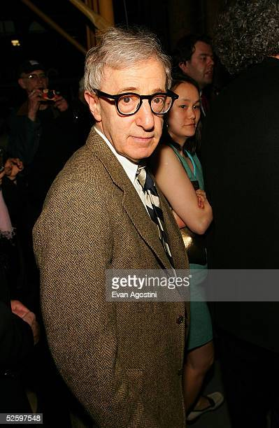 Director Woody Allen and his wife SoonYi Previn arrive at the Martha Graham Dance Company opening night gala at New York City Center on April 6 2005...