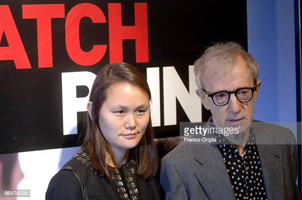 """Director Woody Allen and his wife Soon-Yi Previn attend the premiere of his new film """"Match Point"""" at the Embassy Cinema on December 20, 2005 in..."""