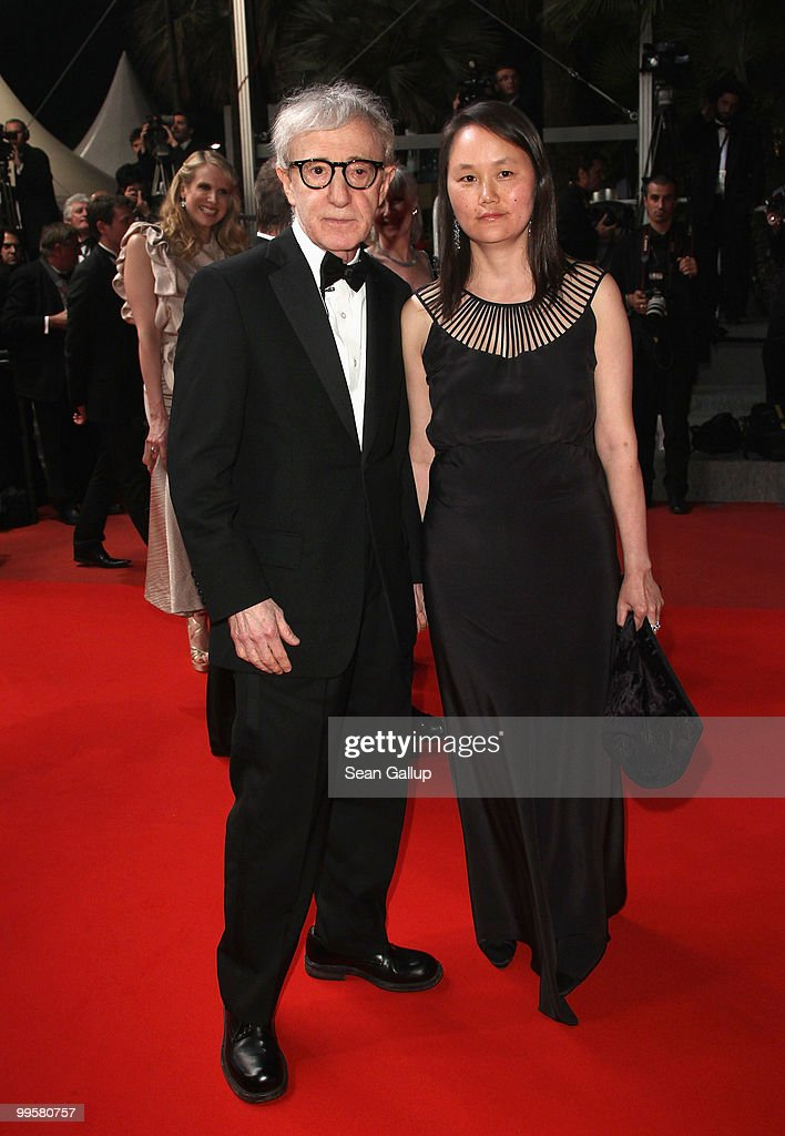 Director Woody Allen and his wife Soon-Yi Previn departs the 'You Will Meet A Tall Dark Stranger' Premiere at the Palais des Festivals during the 63rd Annual Cannes Film Festival on May 15, 2010 in Cannes, France.