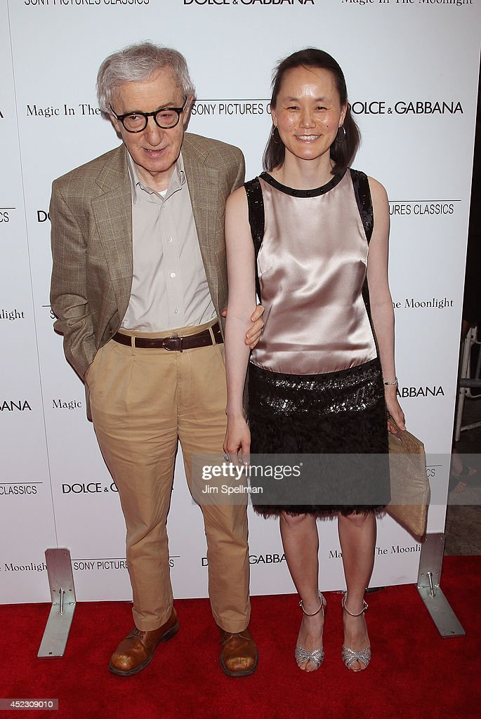 Director Woody Allen and Soon-Yi Previn attend 'Magic In The Moonlight' premiere at Paris Theater on July 17, 2014 in New York City.