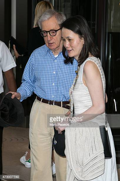 Director Woody Allen and wife Soon-Yi Previn are seen leaving the Grand Hyatt Cannes Hotel Martinez during the 68th annual Cannes Film Festival on...