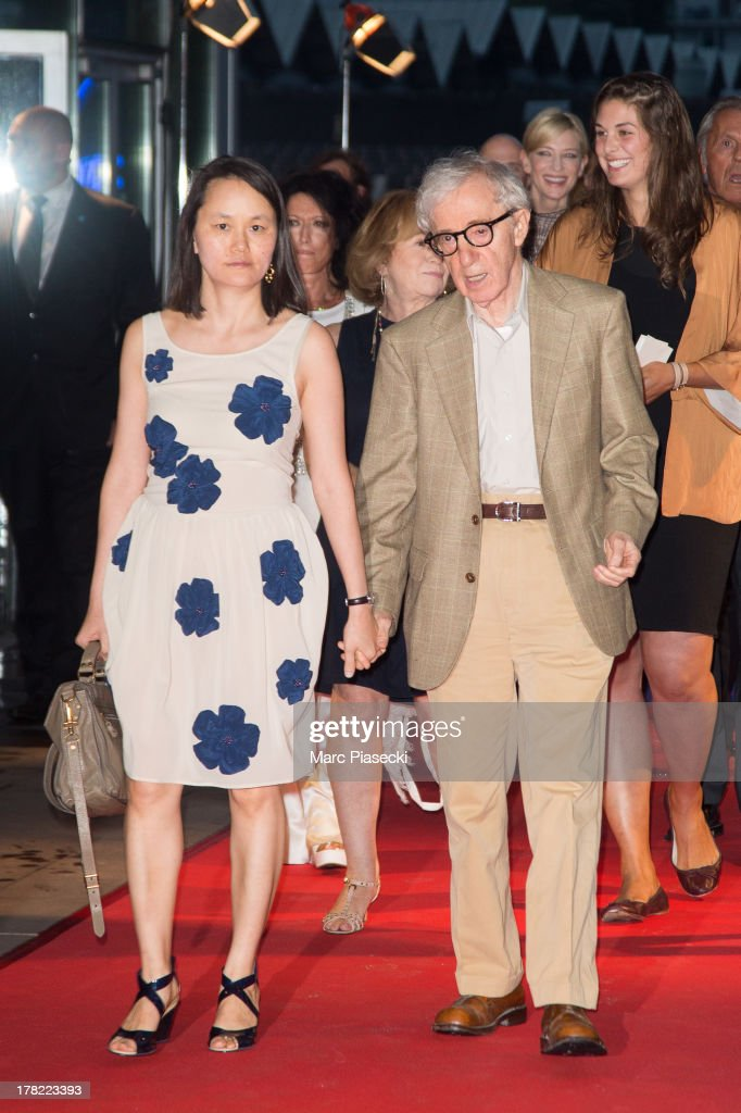 Director Woody Allen and wife Soon-Yi Previn attend the 'Blue Jasmine' Paris premiere at UGC Cine Cite Bercy on August 27, 2013 in Paris, France.