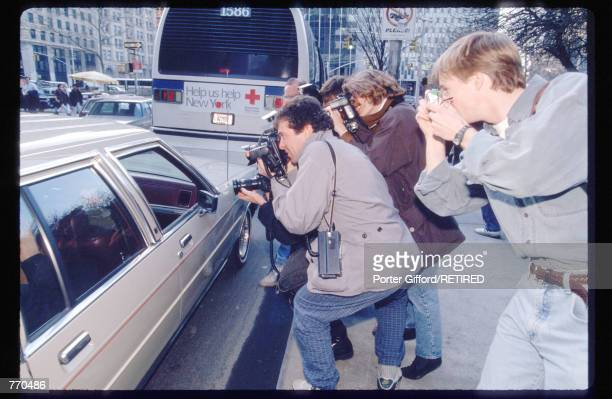 Director Woody Allen arrives at the Manhattan Supreme Courthouse March 26, 1993 in New York City. Allen's ex-girlfriend Mia Farrow is filing for...