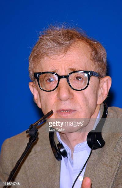 Director Woody Allen attends press conference at Oviedo's Auditorium the day before receiving his Prince of Asturias Awards for Arts