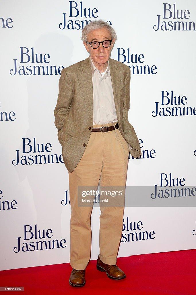 Director Woody Allen attends the 'Blue Jasmine' Paris premiere at UGC Cine Cite Bercy on August 27, 2013 in Paris, France.