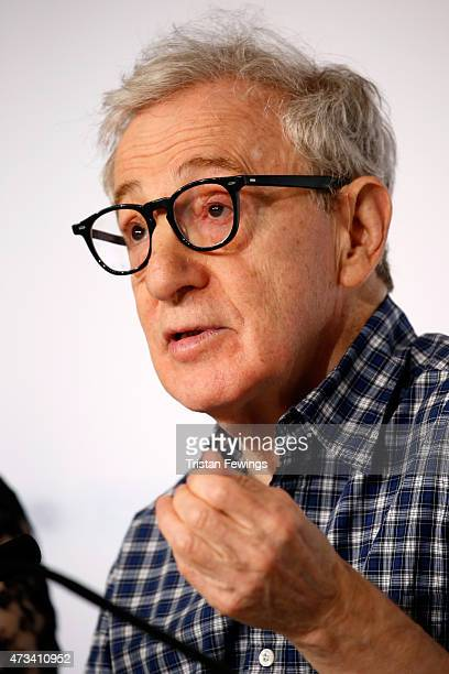 """Director Woody Allen attends the """"Irrational Man"""" press Conference during the 68th annual Cannes Film Festival on May 15, 2015 in Cannes, France."""