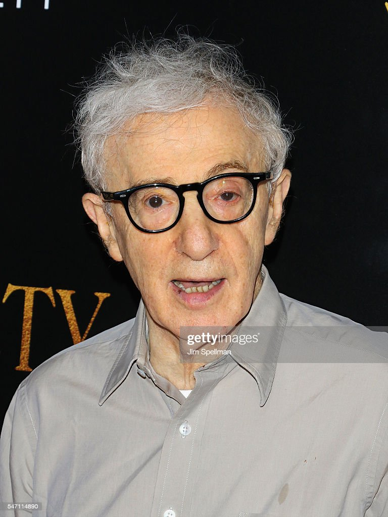 Director Woody Allen attends the New York premiere of 'Cafe Society' hosted by Amazon & Lionsgate with The Cinema Society at Paris Theatre on July 13, 2016 in New York City.