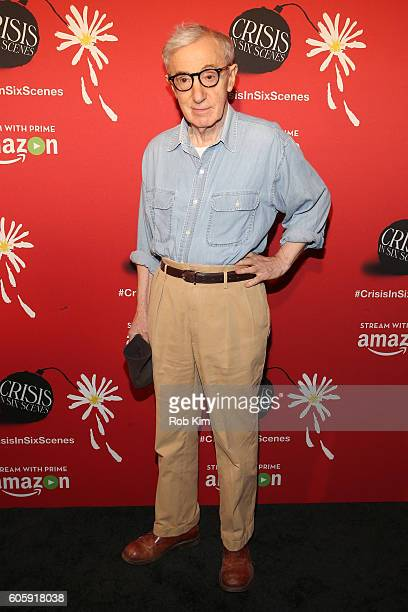 Director Woody Allen attends the world premiere of 'Crisis in Six Scenes' at the Crosby Street Hotel on September 15 2016 in New York City