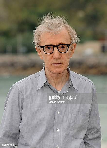 "Director Woody Allen attends ""Vicky Cristina Barcelona"" photocall at the Kursaal Palace during the San Sebastian International Film Festival on..."