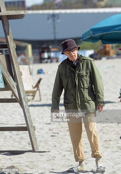 Director Woody Allen filming new Woody Allen film in The Rockaways NY on September 16 2016 in New York City