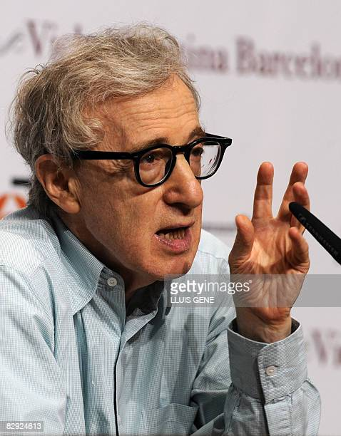 US director Woody Allen gives a press conference to promote his film Vicky Cristina Barcelona on September 20 2008 in Barcelona AFP PHOTO/LLUIS GENE