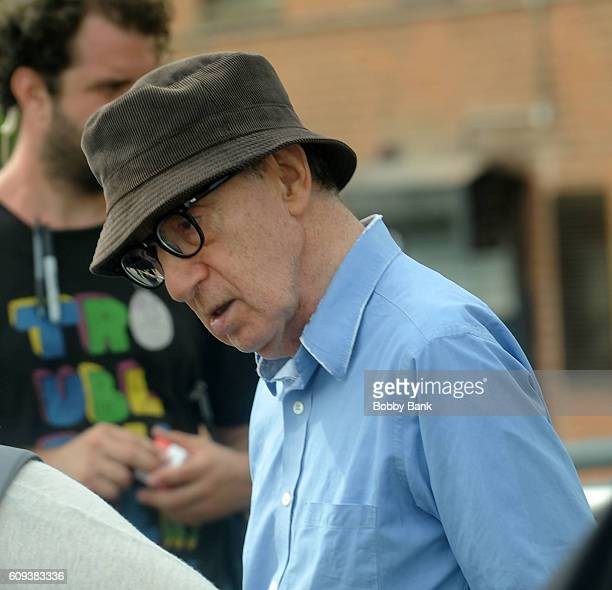 Director Woody Allen on set filming Woody Allen's new Fall Project on September 20 2016 in New York City