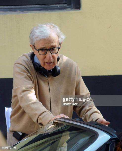 Director Woody Allen on the set of the 'Untitled Woody Allen Project' on September 11 2017 in New York City