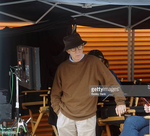 Director Woody Allen on the set of the 'Woody Allen Summer Project' movie on October 21 2016 in New York City