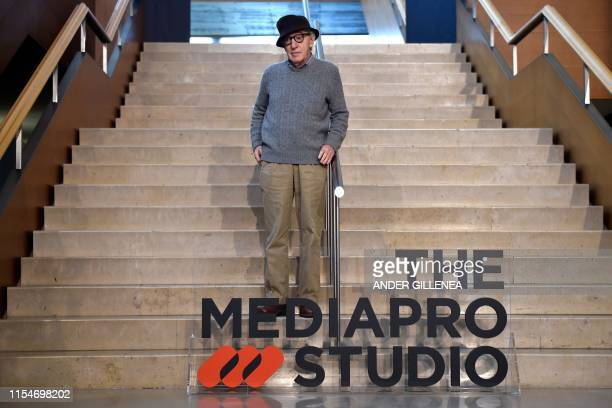Director Woody Allen poses during a photocall in the northern Spanish Basque city of San Sebastian, where he will start shooting his yet-untitled...