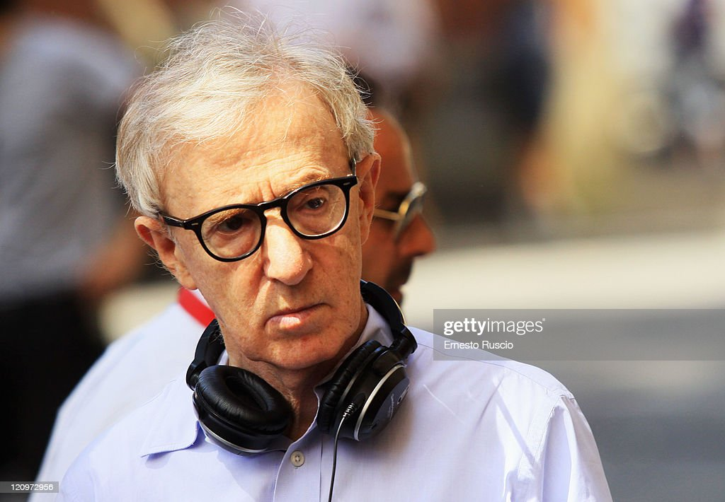 Director Woody Allen sighting during the 'To Rome With Love' filming at Garbatella quarter on August 12, 2011 in Rome, Italy.
