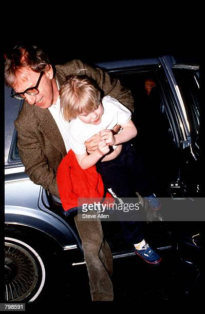 Director Woody Allen takes his son Satchel home April 10 1993 in New York City Allen's exgirlfriend Mia Farrow is filing for custody of their natural...